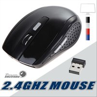 Wholesale Gaming Mouse For Laptop - 2.4GHz Optical Wireless Mouse Receiver mouse Smart Sleep Energy-Saving Mice for Gaming Computer Tablet PC Laptop With Retail Box