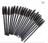Wholesale lip gloss brush applicator - 50PCS Disposable Lip Eyeliner Eyelash Brush One off Eyelash Brush Mascara Lipstick Gloss Applicator Wand Makeup Brushes Drop Shipping