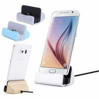base iphone china al por mayor-Cargador de teléfono móvil con sincronización de datos Cargadores de base universal para Samsung HTC iPhone 6 7 8 más un teléfono Micro USB de marca china con cable