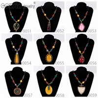 Wholesale Dress Style Jewelry - New Arrivals Bohemia Styles Pendent necklace charms for Woman Multi Styles Fit Bohemia vintage Dress Fine Necklaces pendants Jewelry XL51-59