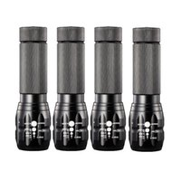 Wholesale Cree Q5 Bicycle - 4Pcs Super Light Mini CREE Q5 LED Flashlight Zoomable 1200lm Camping Torch Bicycle Bike Lamp Lights AAA Battery