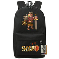 Wholesale Plain Red Fan - Clash of clans backpack King game packsack Fans school daypack Quality pack bag Nylon rucksack Hot sale day pack