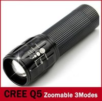 Wholesale Bicycle Camping Gear - 2016 Three gears mini scale focusing LED Flashlight 2000 lumen leds flashlight bicycle headlights outdoor flashlight
