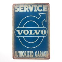 Wholesale Man Cave Signs Decor For Sale Volvo Service Authorized Garage Retro Vintage Metal Tin