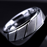 Wholesale Fashion For Friends - BC Fashion jewelry 8mm Wide Silver Plated Stainless Steel biker Middle Finger Frosted Ring for Men Women Friend Gift BC-234