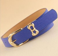 Wholesale Dress One Direction - Fashion belt women bowknot buckle genuine leather all match dress direction female belts,women's Fashion Accessories