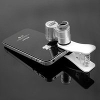Wholesale Led Light Loupe - Fashion Mini Money Tester 60X Pocket Microscope Magnifier Loupe Glass LED Light UV with clip