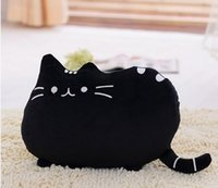 Wholesale Black Mouse Tail - Cat big pillow cushion biscuits cat plush toy doll Of big face cat tail cat doll waist