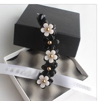 Wholesale Wholesale Designer Hair Clips - 0034 2016 Newest factory sale Europe Style great designer black small flower hair clip for women banana hair clip