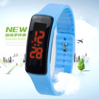 Wholesale Kids Unisex Silicone Strap Watches - New colorful silicone wrist strap kids watches for women children hours digital bracelet sports LED watch