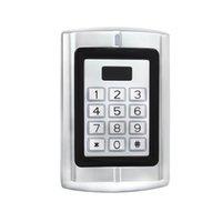 Wholesale Entry Metal Door Access Control - RFID 125KHz EM Card Backlit Keypad Metal Case Access Control for Door Entry Security + 1pcs Protective Rain Cover F1291D