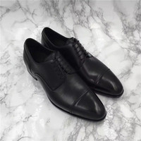 Wholesale Career Wear Tops - Top quality men dress shoes derby import buckskin vamp sacchetto genuine leather tread 90 degree bend wear so luxury Masculinity size38-44