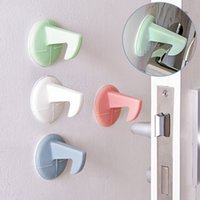 Wholesale Graphic Tape - Thickened silicone tape hook door rear wall collision pad door handle mute anti - stickers free shipping