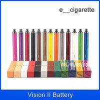 Wholesale Wholesalers For Vision - Top Vision spinner II 1650mAh Ego twist 3.3 4.8V vision spinner 2 variable voltage battery for Electronic cigarettes ego atomizer