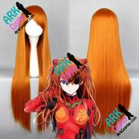 Wholesale Evangelion Wig - Wholesale-Asuka Wig - Neon Genesis Evangelion Wig Soryu Asuka Langley Wig Yellow Womens Neon Genesis Evangelion Cosplay Wigs