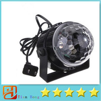 Wholesale Crystal Led Disco Light - Mini RGB LED Crystal Magic Ball Stage Effect Lighting Lamp Party Disco Club DJ Bar Light Show 100-240V US Plug