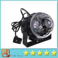 disco eu stecker großhandel-Mini RGB LED Kristall Magic Ball Bühneneffekt Beleuchtung Lampe Party Disco Club DJ Bar Licht Zeigen 100-240 V Us-stecker