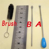 Wholesale Custom Cleaners - Cleaning Brush dab tool for wax oil custom your logo dabber tools for silicone water pipe glass smoke pipes ccell tank dab