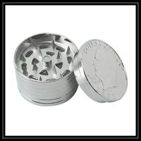 Wholesale United Parts - Wholesale One Dollar Coins Grinder 3pc Pollen Catcher Mini Size United States Metal Grinder 3 Part Layers Dry Herbal Hand Mullers DHL Free