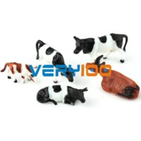 Wholesale Ho Scale Animals - 10pcs Ho scale animals 1:87 for Model train layout ( Cow ) New scale size