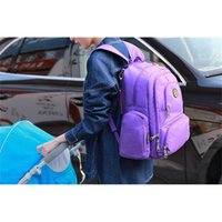 Wholesale Purple Nurse - Mommy Backpacks Brand Mom Nappies Bags Fashion Mother Backpack Diaper Maternity Backpacks Large Desinger Nursing Outdoor Travel Bags