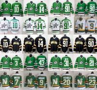 Wholesale dallas hockey jerseys - Dallas Stars Jerseys Ice Hokcye Green White 10 Patrick Sharp 14 Jamie Benn 90 Jason Spezza 91 Tyler Seguin 20 Dino Ciccarelli