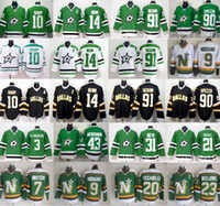 patrick sharp jerseys verdes al por mayor-Dallas Stars Jerseys Ice Hokcye Verde Blanco 10 Patrick Sharp 14 Jamie Benn 90 Jason Spezza 91 Tyler Seguin 20 Dino Ciccarelli
