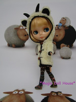 Wholesale Girls Coats For Sale - [RMG090] 2017 Hot Sale Neoblythe doll clothes # Lambs Wool Coat and Brown Pants for blythe doll outfits making doll clothes for retail