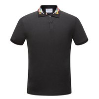 Wholesale Block Shirt - New Arrival 2017 hliantao brand Summer Style Short Sleeve Solid dragon Color block Polo Shirts Brand Mens Polos shirt plus size M-3XL 1536