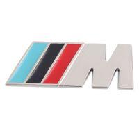 araba logosu ön amblemi toptan satış-3 M M Serisi Büyük Mpower M-teknoloji Araba Gövde Rozeti Amblem üzerinde 3D Saf Metal Ön Kaput Grille Sticker logosu /// M M3 M5 M ...
