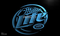 Wholesale Miller Lite Beer Neon Light - LE016-TM Miller Lite Beer Displays logos Neon Light Sign. Advertising. led panel