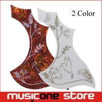 guitarra acústica pickguard al por mayor-Multi color Butterfly Hummingbird y Flower Guitar Pickguard Guitarra acústica Pickguard Pick Guard Sticker MU1322