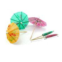 принадлежности для зонтов оптовых-Бумага коктейль зонтики зонтики напитки выбирает свадебное событие вечеринок праздники коктейль гарниры держатели ZA0977