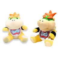 Barato Polegar De Pelúcia Mario-2 estilo Big Monstro Bowser Jr. 7 polegadas Super Mario Bros Bowser Koopalings Plush Toy