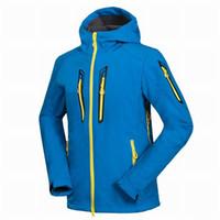 Wholesale Gore Tex Waterproof Jacket - Wholesale-2016 New Winter Men's Hiking Jackets Outdoor Male Softshell Jacket Waterproof Windproof Camping Ski Inside Polartec Coats