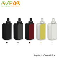 Wholesale Ego Tanks Core - Joyetech eGo Aio Box Mod Kit 2100mAh Battery Box with 2ml Capacity Atomizer Tank use BF SS316 0.6ohm MTL Core