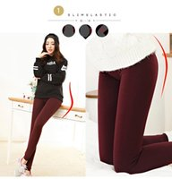 Wholesale Dress Pants Leggings - 2017 High Elasticity Women's Fleece Leggings Suit go with Dress Warm Leggings Thick Velvet Pants For Autumn And Winter