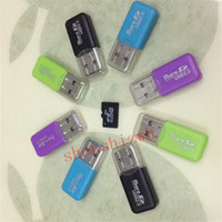 Wholesale Mini Sd Cards 4gb - mini card reader Free Shipping High Speed USB 2.0 Micro SD card T-Flash TF M2 Memory adapter 2gb 4gb 8gb 16gb 32gb 64gb TF Card