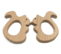 Wholesale Wholesalers Organic Material - Animal Beads Squirrel Baby Teether Toy Molar Chew Organic Health Material Baby Teething Best For Your Baby