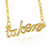 Wholesale Gold Letter M Pendant - 2016 Newest Hot Fashion To be m Letter Pendant Necklaces Alloy Gold Plated Cute Women Jewelry Accessories Gifts 12PCS LOT