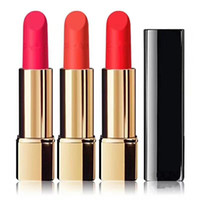 Wholesale Pressing Aluminum - factory dericet top quality c+++ 4 colors rouge velvet luminous matte lipstick highest quality Press the aluminum tube lipstick free shippi