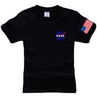 Wholesale Nasa Clothing - NASA T Shirt Men Fashion Summer Style Cotton Hiphop Streetwear Tees Brand Clothing Tshirt Men Tops