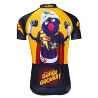 Wholesale G Bikes - New Sesame Street G Men Summer Short Sleeve Cycling Jersey Tops 100%Polyester Breathable MTB or Road Bike Clothes Cycling Wear Ropa Ciclismo