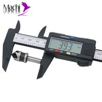 Wholesale Digital Lcd Caliper Vernier Gauge - Wholesale-150mm 6inch LCD Digital Electronic Carbon Fiber Vernier Caliper Gauge Micrometer #P01036#