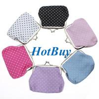 Wholesale Cute Clutches Korean - 6 Colors Cute Women Girls Wallet Clutch Change Purse Key Coins Bag #3933