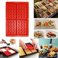 Wholesale Order Cake Supplies - Silicone 4-Cavity Waffles Cake Chocolate Pan Baking Mould Donut Makert Cooking Tools Kitchen Accessories Supplies E5M1 order<$18no track