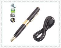 Wholesale Hid Retail - spy pen camera pen hidden pen camera 1280*960 video Spy pen Camera mini Hidden pen Recorder DVR with retail box