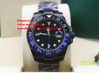 Wholesale Gmt Watch Case - Luxury AAA+ Quality Watch 40mm Ceramic Bezel GMT 116710 116710LN Black PVD Case Sapphire Asia 2813 Movement Automatic Mens Watch Watches
