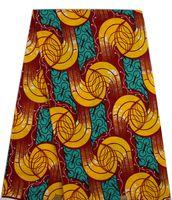 Wholesale Vintage Fabric Designs - Vintage design hollandais yellow wax fabric wax print fabrics African real dutch ankara print material (6yards lot)