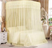 Wholesale Curtains Rails - The new thickening of the stainless steel tube curtains orbital mosquito bed station type mosquito nets factory direct